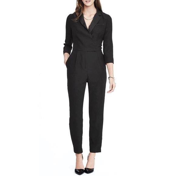 3152c16cb92 Banana Republic • tuxedo jumpsuit